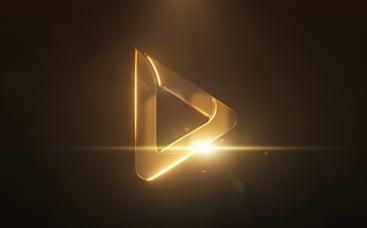 Анимация лого: Сияние металла