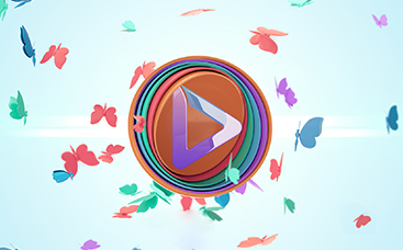 Glänzendes Schmetterlings-Fantasie-Logo