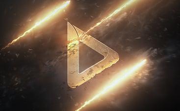 点滅する火のロゴ動画