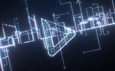Digitales Stromkreis-Linien-Logo