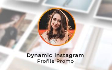 Динамичное промо профиля Instagram