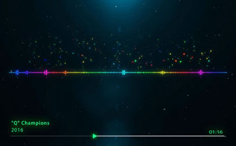 Rainbow Music Visualizer