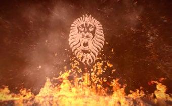 Animation de Logo Fly-In-Fire