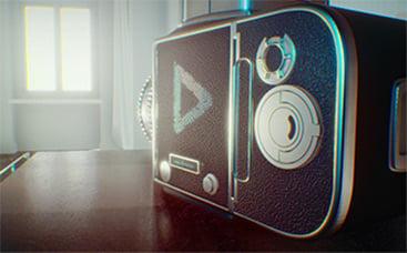 Vintage Camera Logo Reveal