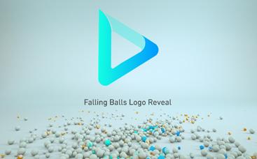 Falling Balls Logo Reveal