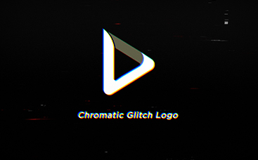 Chromatic Glitch Logo