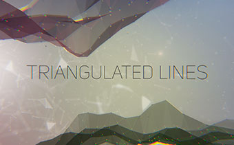 Triangulated Lines Kinetic Typography
