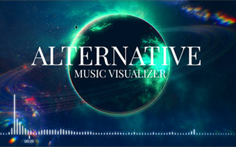 online music visualization maker with your images renderforest