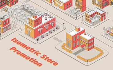 Isometric Store Promotion