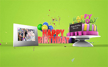 Free online animated greeting cards renderforest happy birthday greeting 3d video card m4hsunfo