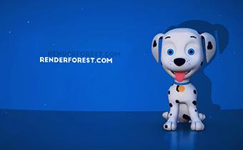 3D Cartoon Dog Logo Reveal