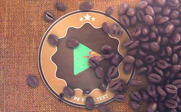 Coffee Beans Logo Reveal