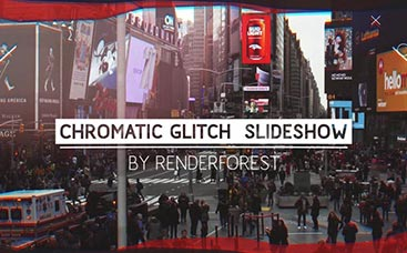 Chromatic Glitch Slideshow