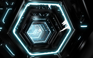 Hexagon Tunnel Music Visualizer