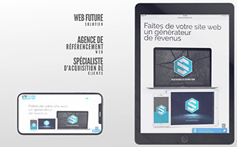 Promotion réaliste de sites web et d'applications mobiles