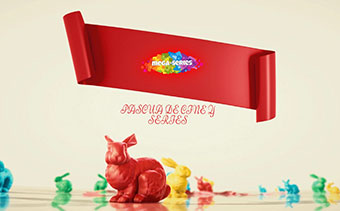3D Easter Ribbon Greetings