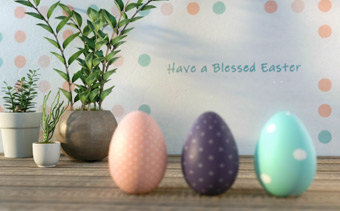 Adorable Easter Eggs Greeting