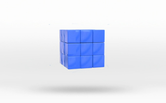 Лого Анимация Молекулярный Kуб