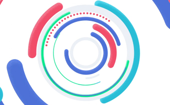 Logotipo Movimento Circular Colorido