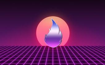 80年代風のロゴ