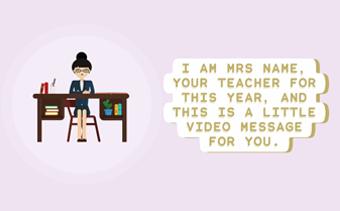 Teacher's Video Message
