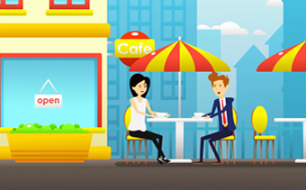 ヘルシーなカフェやレストランのプロモーションビデオ