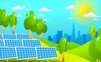 Unternehmen für erneuerbare Energien Promo
