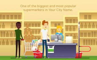 スーパーマーケットのプロモーションビデオ