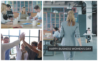 Business Women's Day Greeting Video