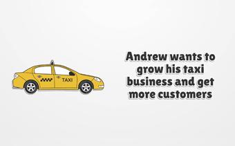 Promotion de l'application de taxis