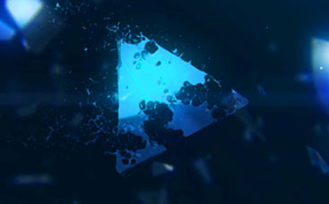 Broken Glass Logo Reveal