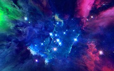 Glowing Nebula Logo Reveal