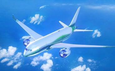 リアルな航空機のロゴ動画