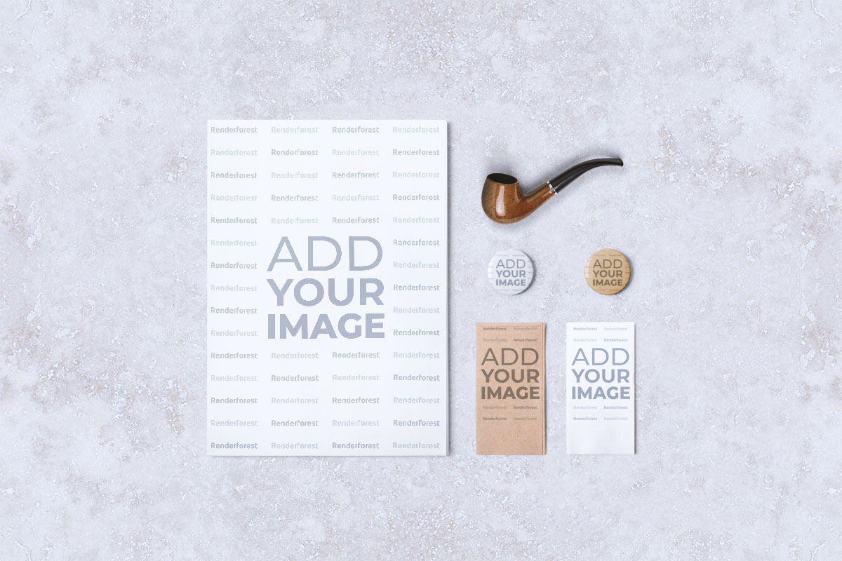Menu Flyer, Cards, and a Pipe