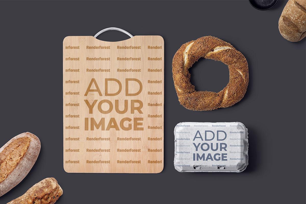 Kesme Tahtası, Yiyecek Kutusu ve Ekmek