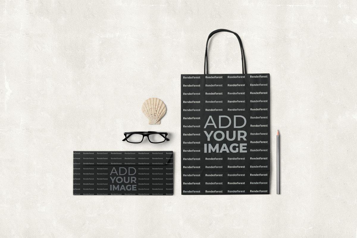 Paper Bag and Envelope Mockup
