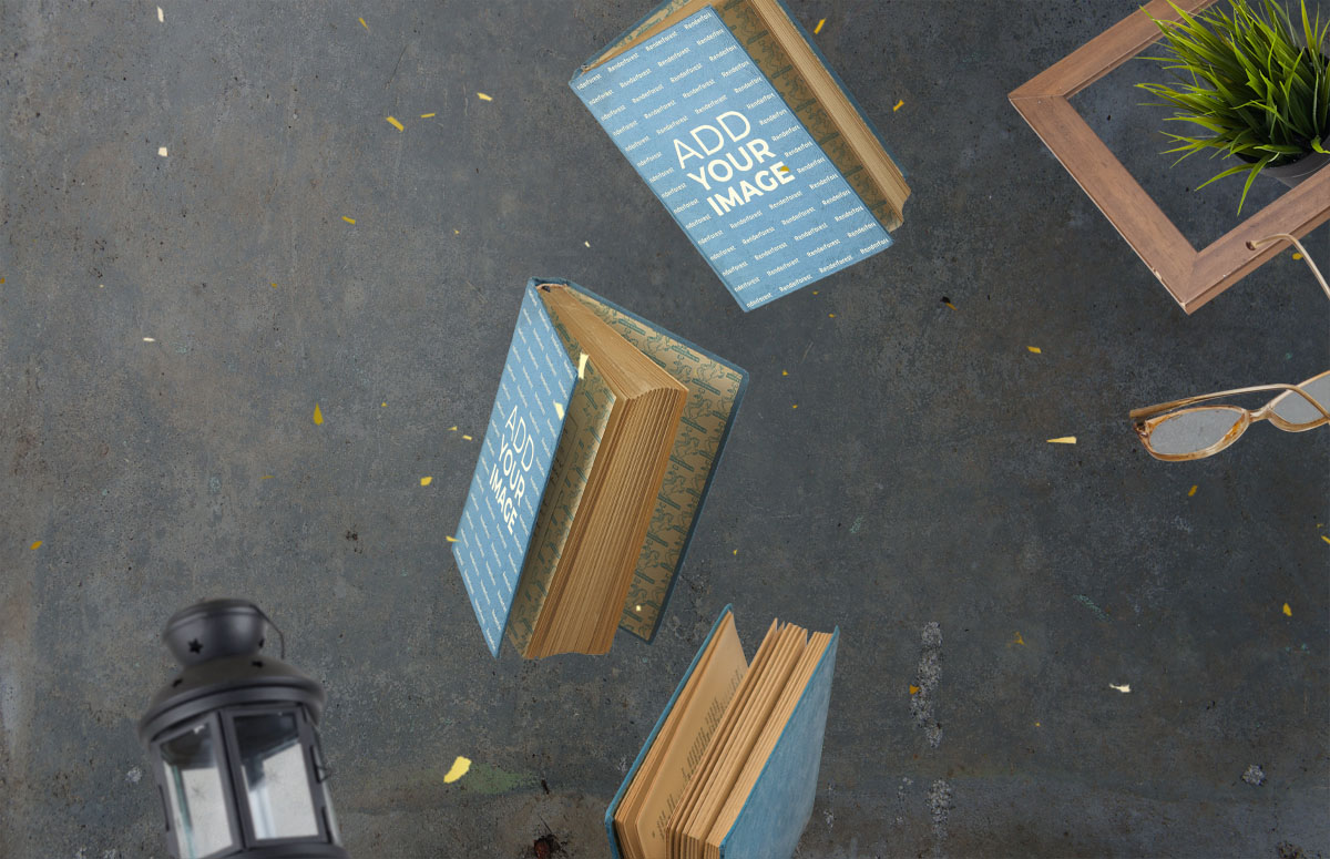 飛翔の3つの厚い本