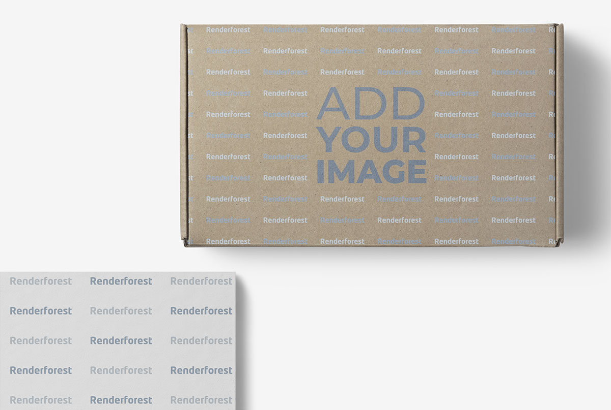 Small Box Package with a Business Card