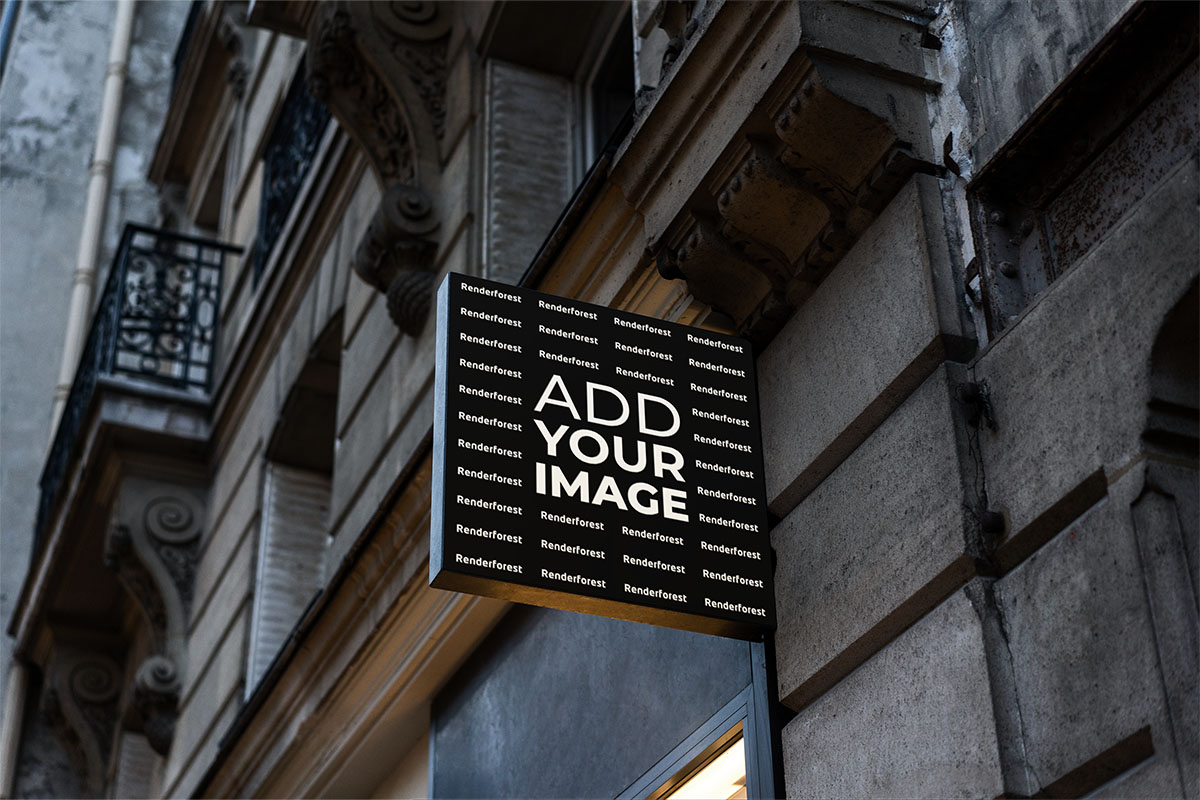 Square Wall-Mounted Store Sign