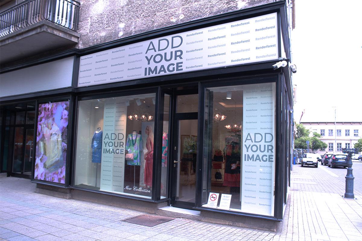Moderne Schufensterbeschilderung