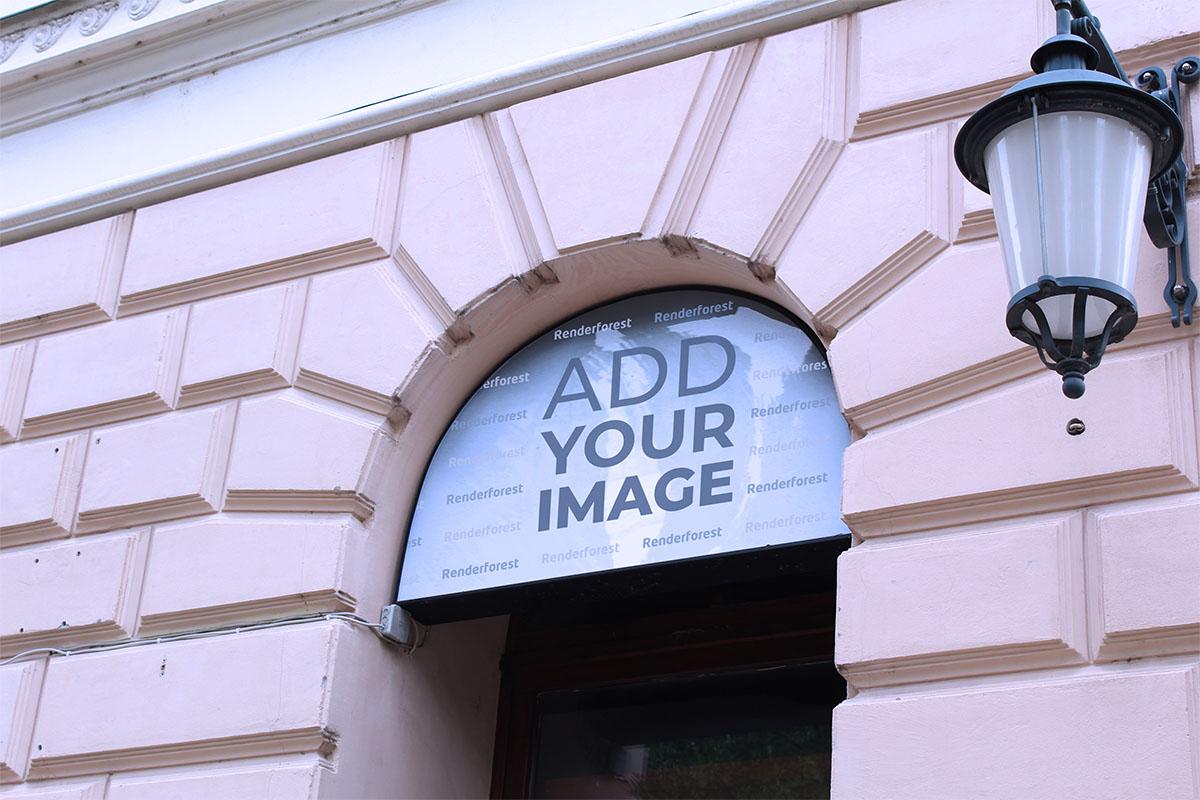 Schaufensterbeschilderung Seitenansicht