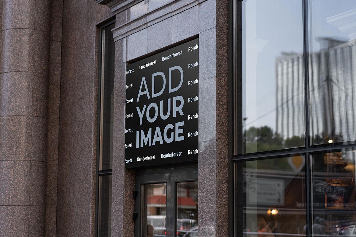 都会の店頭窓口の看板