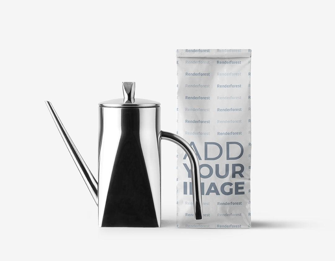Бумажный Пакет с Металлическим Кофейником