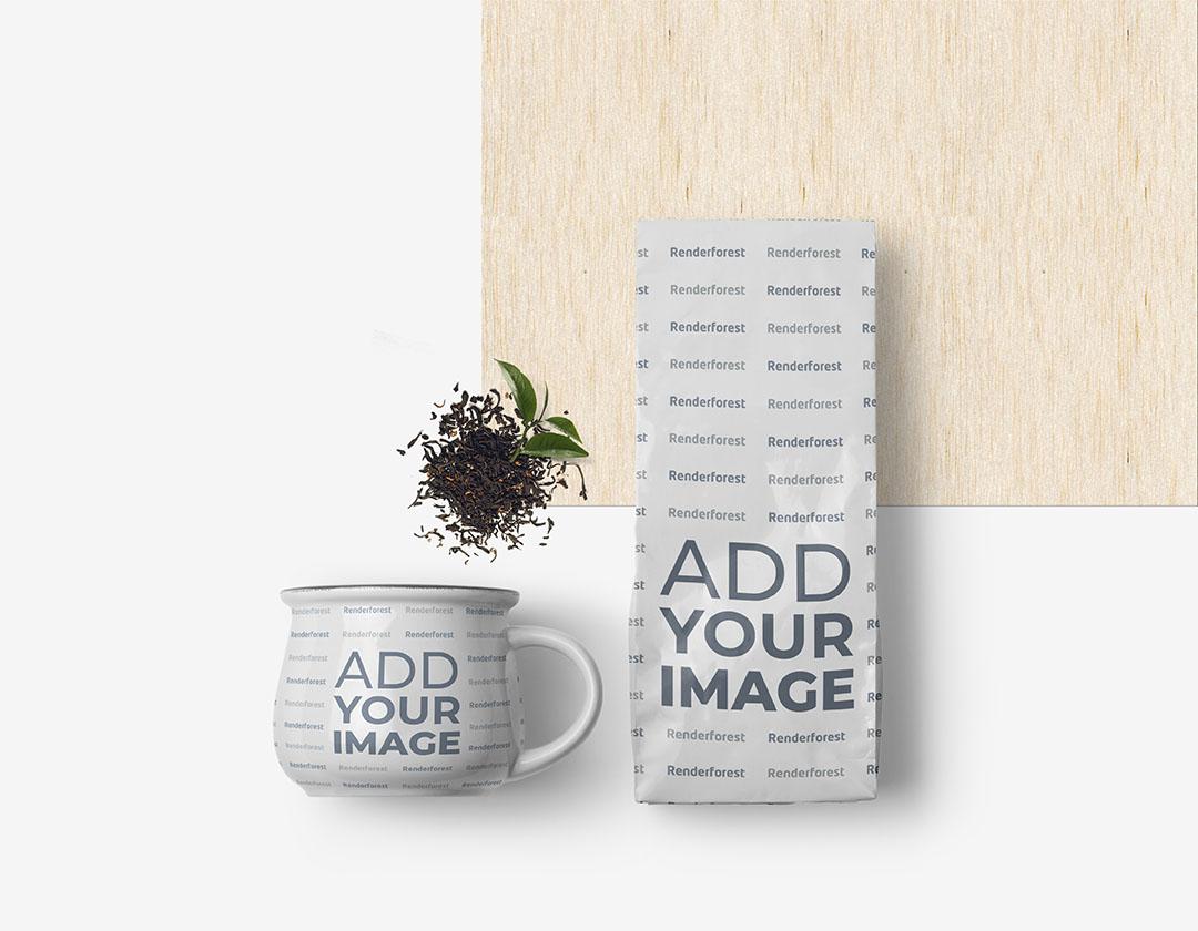 Kahve veya Çay Paketi ile Fincan