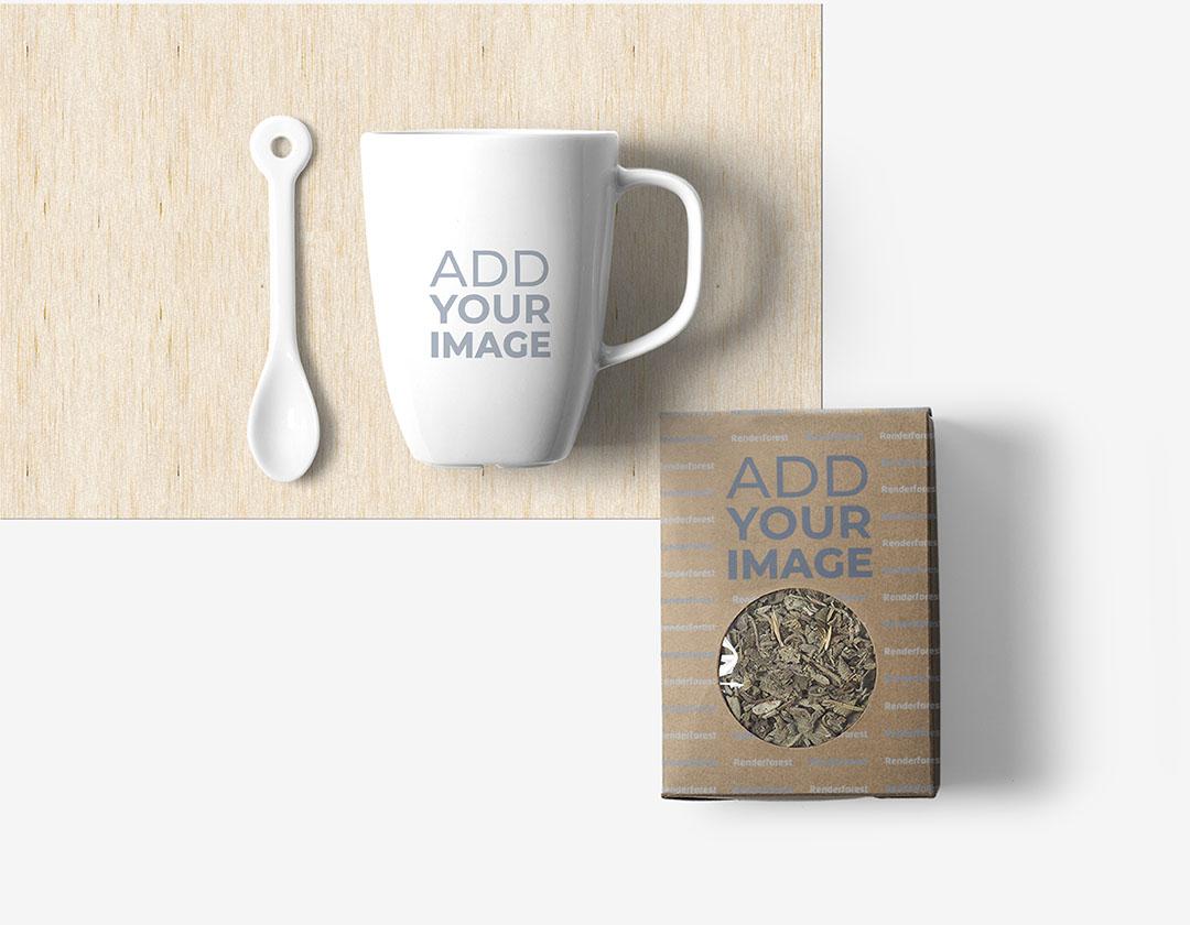 Kağıt Çay Paketi, Fincan ve Kaşık