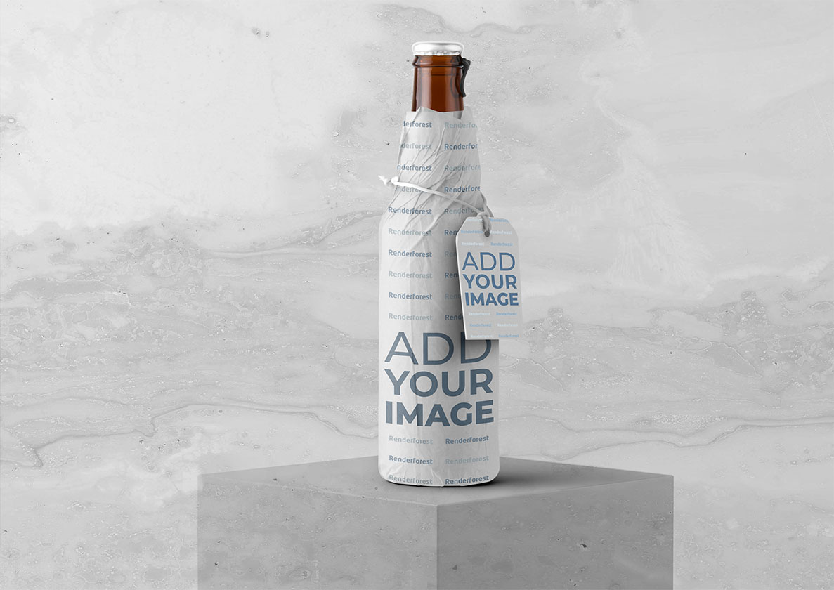 Bottle Packaging Design with a Hang Tag