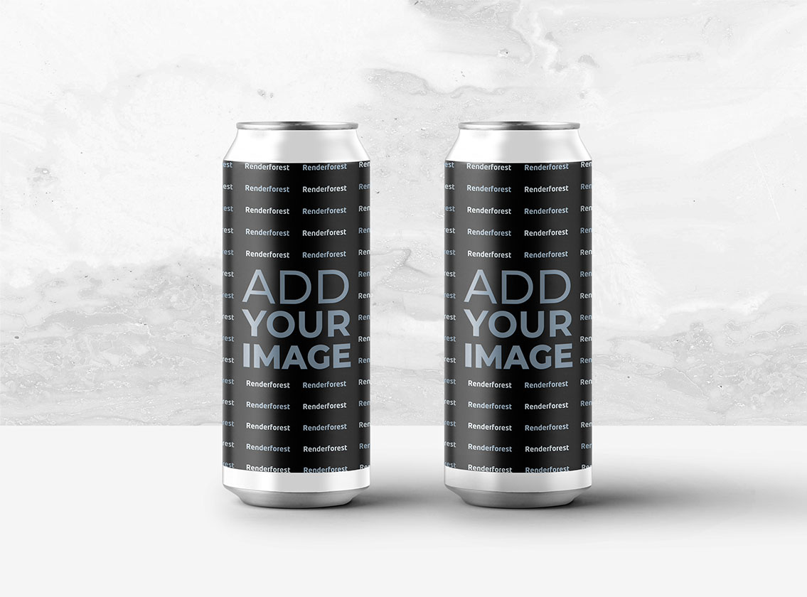 Soda Cans on a Black and White Background
