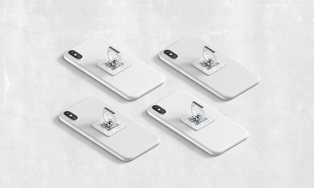 Quatro Anéis Suporte para Celular Isométricos