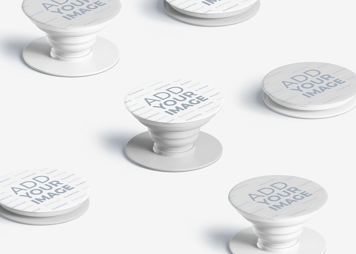 Mehrere Smartphone PopSockets