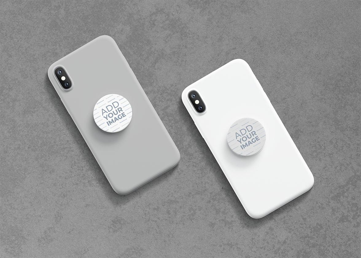 PopSockets auf Smartphones